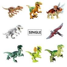 Única Venda Modelos Figuras Building Blocks Diy Série de Filmes Jurassic Parque De Dinossauros Mundo Legoingly Presente Brinquedos Para Crianças