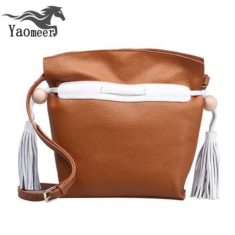 ФОТО 100% genuine leather bags female messenger bag luxury ladies handbags shoulder women bags designer famous brand tassel crossbody