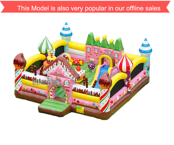 цена на Inflatable trampoline candy Slide Park Bounce House outdoor playground jumping castle for Kids