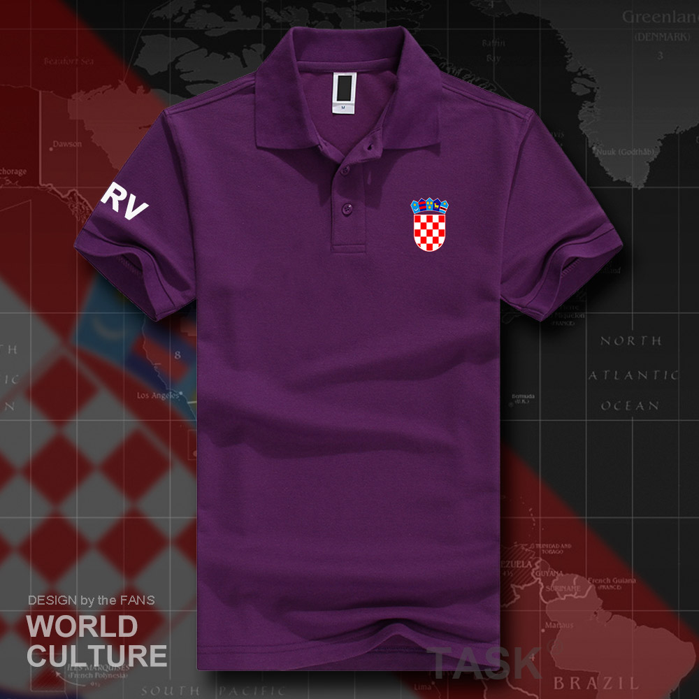 Republic of Croatia HRV   polo   shirts men short sleeve white brands printed for country 2018 cotton nation emblem new fashion