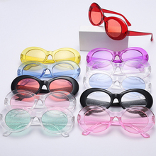 Fashion Cool Unique Dazzle Particle Lens Oval Style Sunglasses Women Men Party Brand Sesign