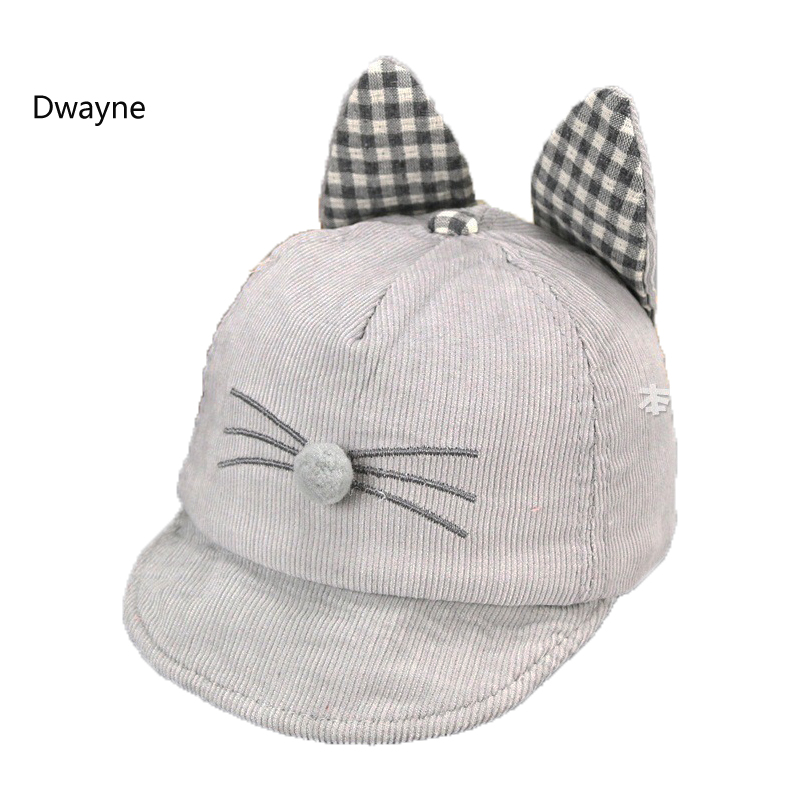 unisex child font baseball cap baby kids cat ear ebay black
