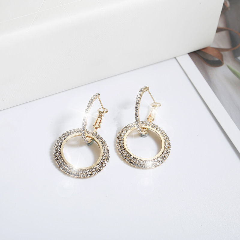 Simple Style Fashion Silver Gold Color Earrings for Women Square Round Geometric Hanging Earrings 18 Female Pendientes Jewelry 46