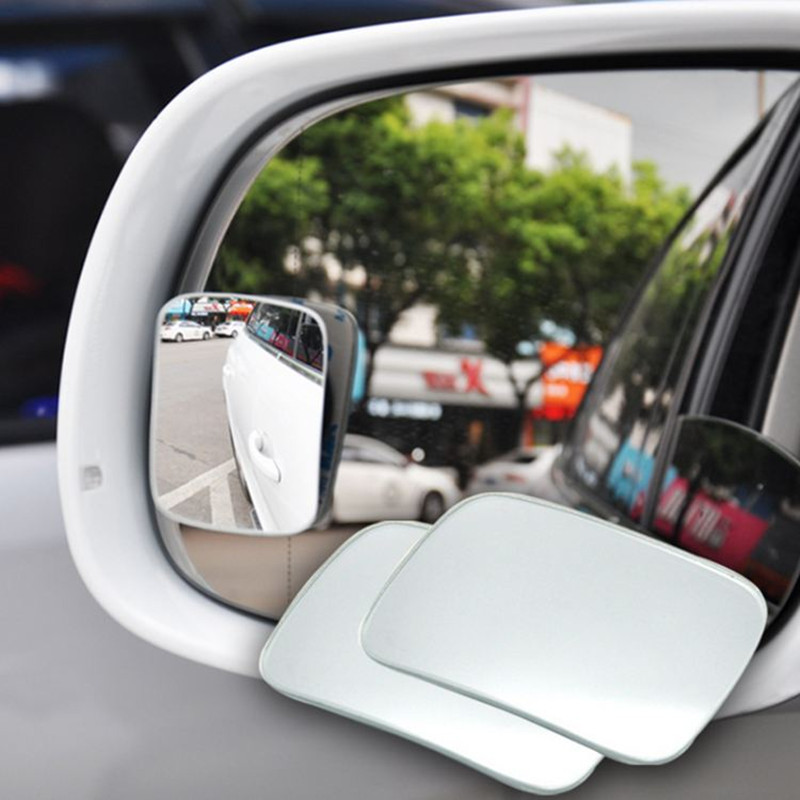 2pcs/lot Car Rearview Mirrors Universal Blind Spot Rear View Rimless Mirror Cove