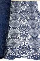 Французский шарик кружевной ткани Темно синие 2018 последние африканские сетка тюль кружевной ткани 5Y в нигерийском стиле гипюр кружевной тк