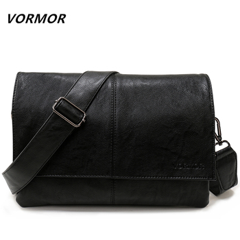 74e63253505e VORMOR бренд повседневное конверт сумки для мужчин Кожаная Сумка через  плечо сумка в деловом стиле курьерские