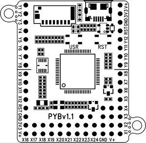 Image 2 - MicroPython geliştirme kurulu PYBoardv1.1 V1.0 STM32F405 Pyhton3 OpenMV