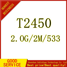 Core Duo Laptop cpu T2450 2M 2.00 GHz 533 MHz Original PGA notebook processor compatible with 945 943 chipset