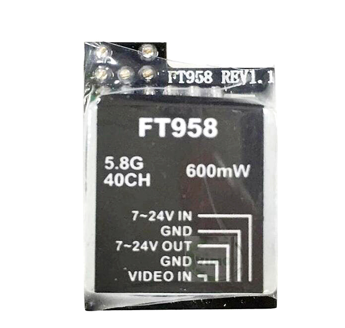 FT958 600mw 5.8GHz 40CH MINI Video Transmitter with Raceband and LED Display for RC Hobbies