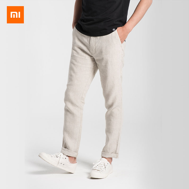 Xiaomi Mijia Youpin PROEASE 100 linen comfortable breathable slacks Breathable refreshing Slim fit Men s trousers
