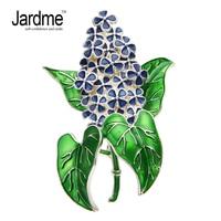 Jardme NEW DESGIN Hyacinth Plant Brooches Lifelike Elegant Fashion Brooches Scarves Csxjd Buckle Accessories