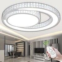 Anel de Acrílico Cristal LEVOU Luz de Teto sala de estar quarto sala de jantar home & business Escurecimento lâmpada do teto AC110-240V