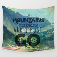 Hot sale fashion beautiful scenery many styles wall hanging tapestry home decoration tapiz pared 1500mm*1500mm