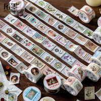 Vintage Stamp Washi Tape Kawaii Sticky Adhesive Tape Pig Masking Tapes For Kids Scrapbooking DIY Photos Albums Supplies