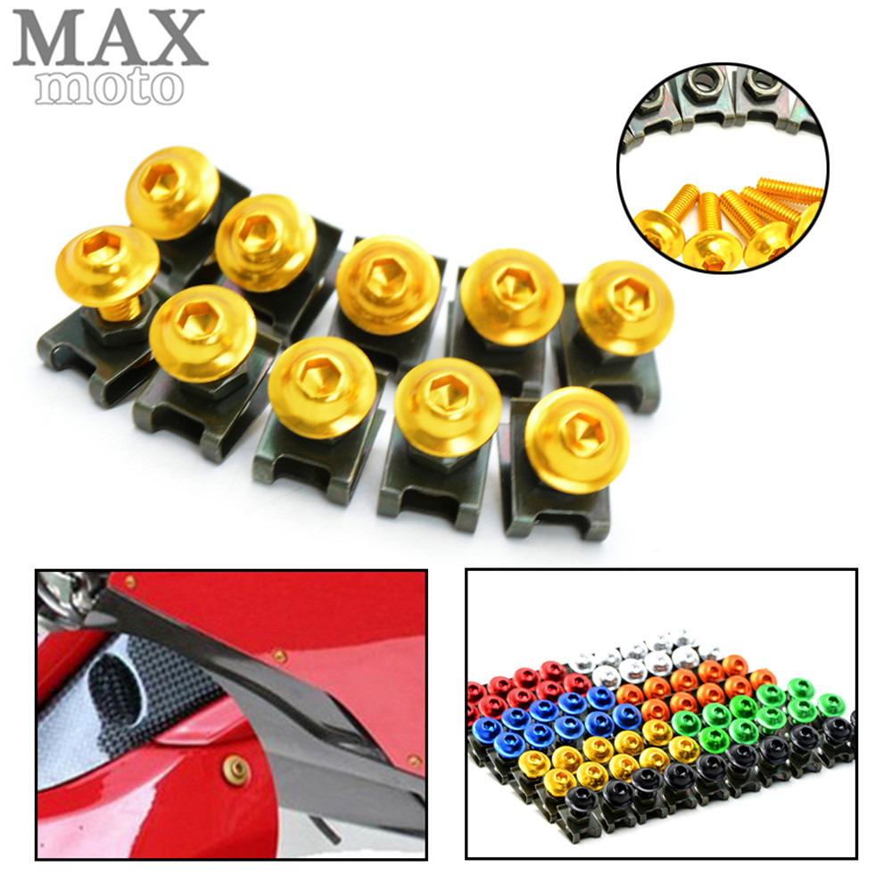 6MM Motorcycle Accessories Fairing body Bolts Screws for Yamaha FZ1 FAZER 06-13 FZ6 04-10 FZ6R 09-15 FZ8 11-15 XJ6 DIVERSION 6mm motorbike body work fairing bolts screwse for yamaha fz1 fazer fz6 fz6r fz8 xj6 diversion triumph tiger 800 1050