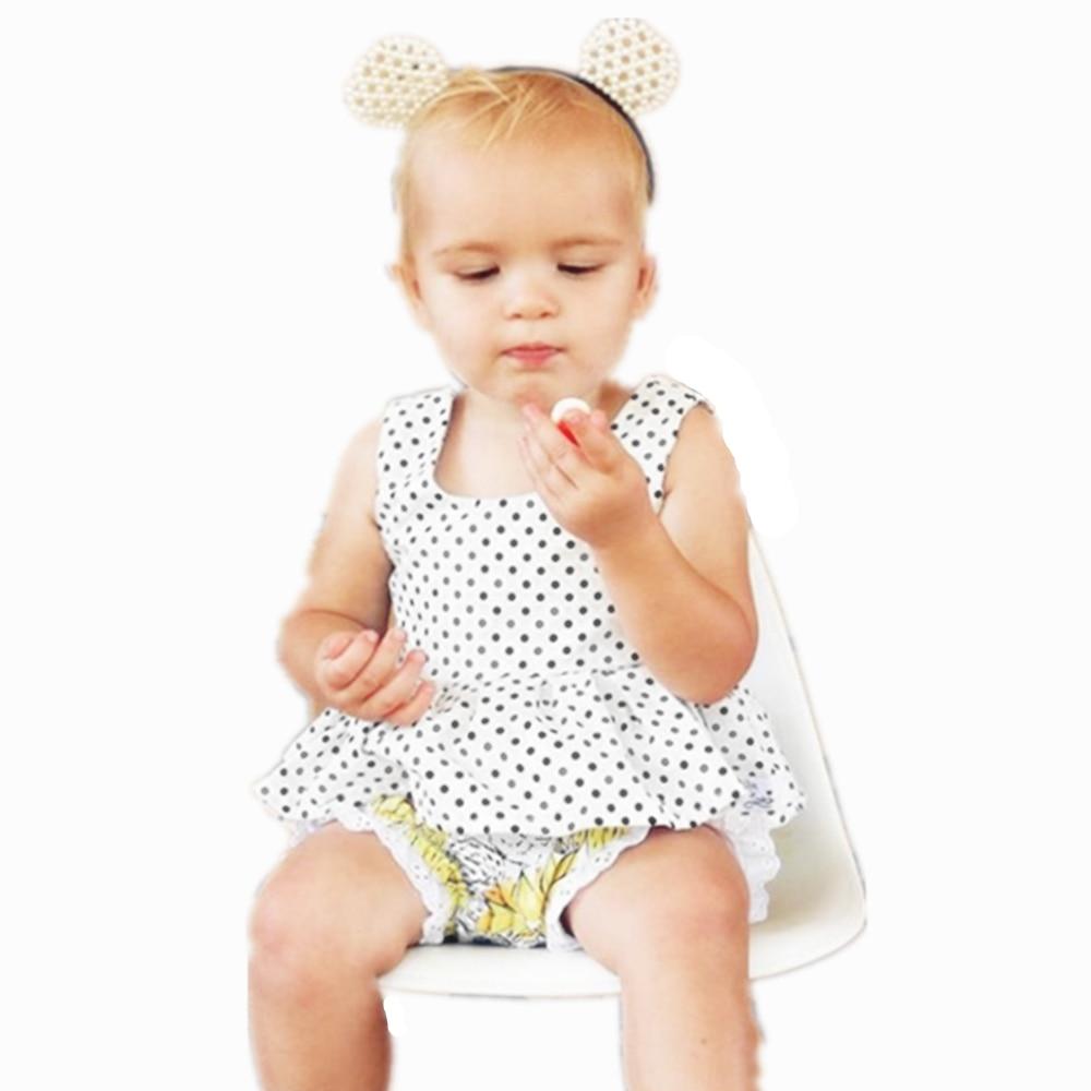 2017 Baby Girls Toddle Summer Dress Newborn Vestido Infantil Dot Dress For Girls white Fashion Clothes