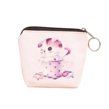 FGGS-Women Girls Cute Zip Leather Coin Purse Wallet Bag Change Pouch Key Card Holder #27 Pink 2017 new fashion design women cute pu leather change purse wallet bag girls coin card money pouch portable purse small bag jan12