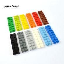 Строительные блоки smartable plate 2x8 детали «сделай сам» образовательные