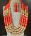 Fantastic Wedding Coral Beads African Jewelry Sets New Gold Plated Dubai Bridal Jewelry Set Gift Free Shipping CNR692