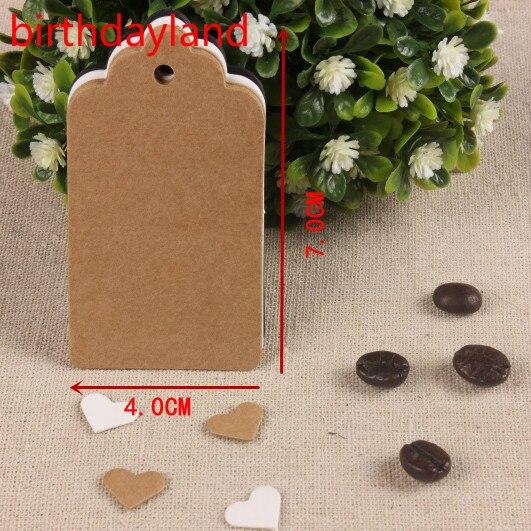 100 pcs 4*7 cm Antigo Papel Kraft Gift Cards/Tags com Swirl lâminas para Casamento Decoração Cartão Scrapbooking Artesanato De Papel