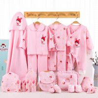 Baby Clothes Newborn Baby Clothing Set 100% Cotton Underwear Suits Toddler Gift Set For Autumn & Winter 21pcs