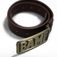OW Game BAMF Belt Mccree Accessory Cowboy Brown PU Leather Belt Paracord with Buckle