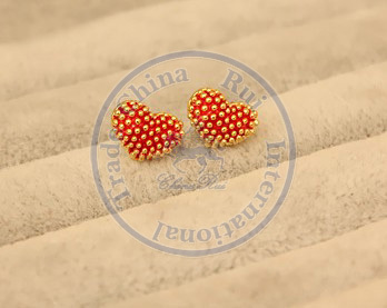 Stud Earrings ear rings Fashion for women Girls lady hearts rivet multi color desgin CN post