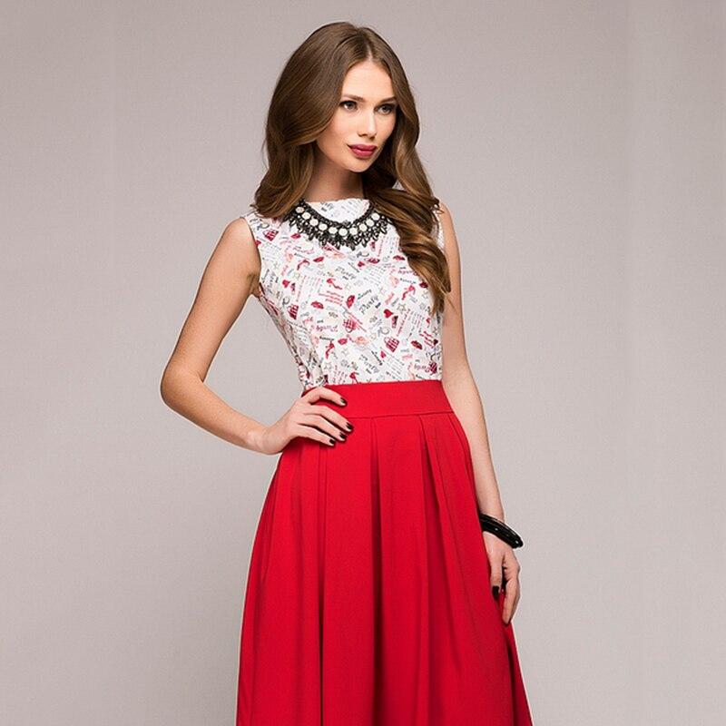 cdf0ff0de8ea 2018 Summer Dress Women Elegant Fashion Printing Bohemian Dress Casual  Sleeveless O-Neck Floral Prom Midi Party Dresses Vestido