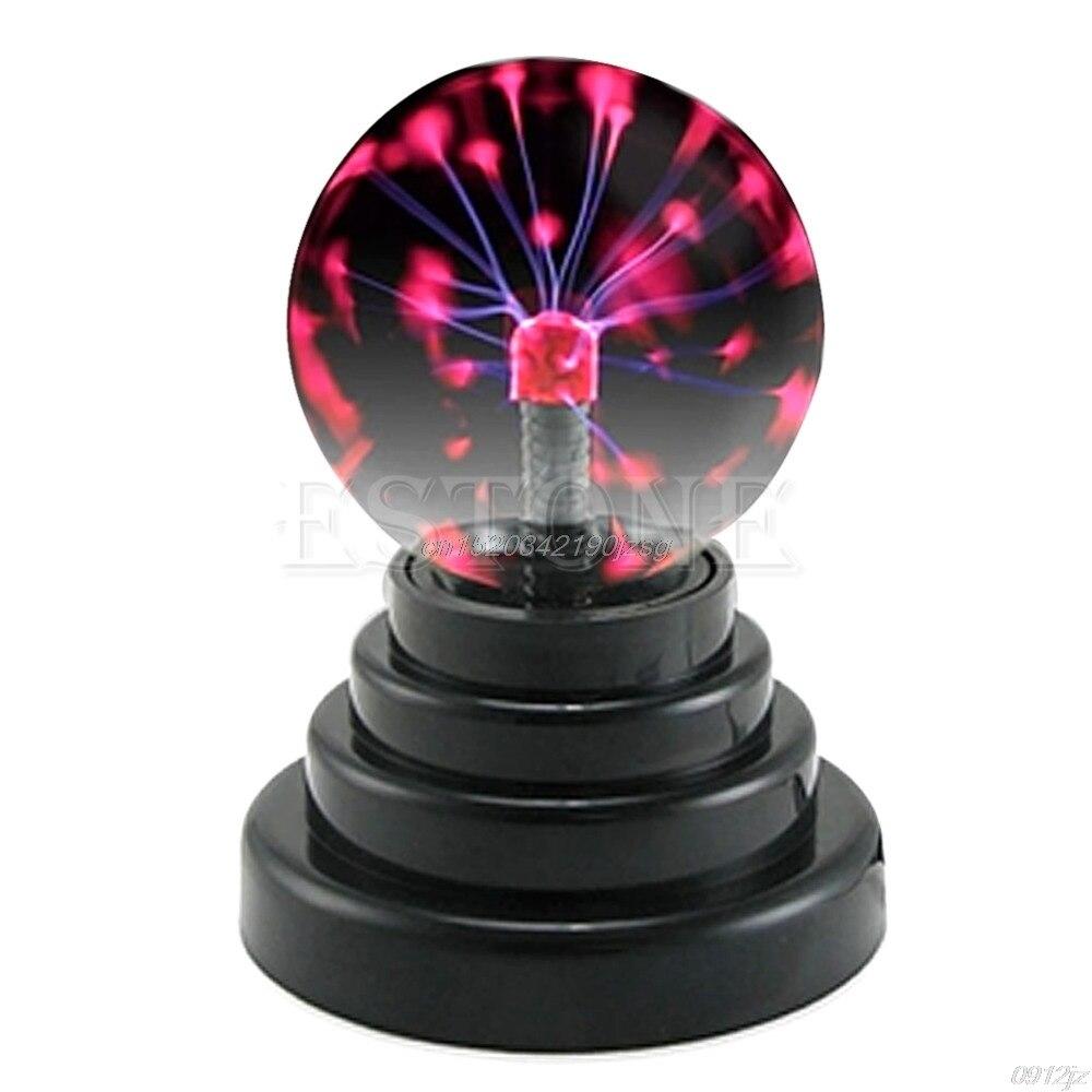 USB Magic Base Glass Plasma Ball Sphere Lightning Luxury Colorufl Party Lamp Lights New Drop Ship