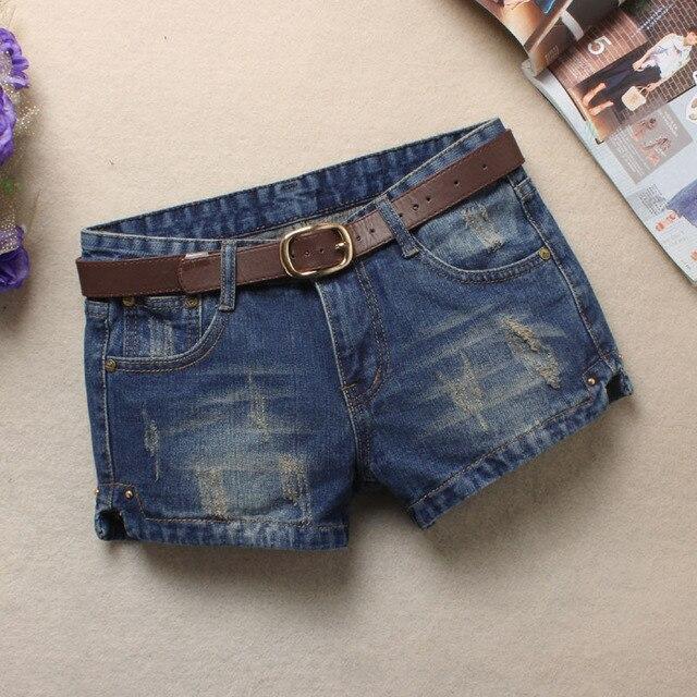De moda Pantalones vaqueros cortos de verano de 2018 mujeres Mediados de cintura  pantalones cortos Denim ff7e9f664af6