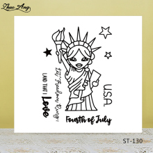 ZhuoAng Holy Cartoon Statue of Liberty Clear Stamps For DIY Scrapbooking/Card Making/Album Decorative Silicon Stamp Crafts