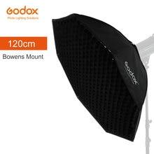 Студийный восьмиугольный софтбокс Godox Pro 120 см, 47 дюймов, сотовый софтбокс с решеткой софтбокс с отражателем и креплением Bowens, студийный стробоскоп, светильник