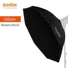 "Godox Pro 120cm 47 ""סטודיו אוקטגון כוורת רשת Softbox רפלקטור Softbox עם Bowens הר לסטודיו Strobe פלאש אור"