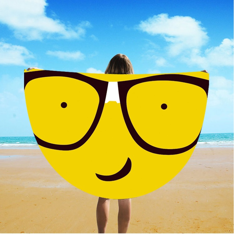 Round Silk Sunscreen Digital Printed Beach Towel St06-149