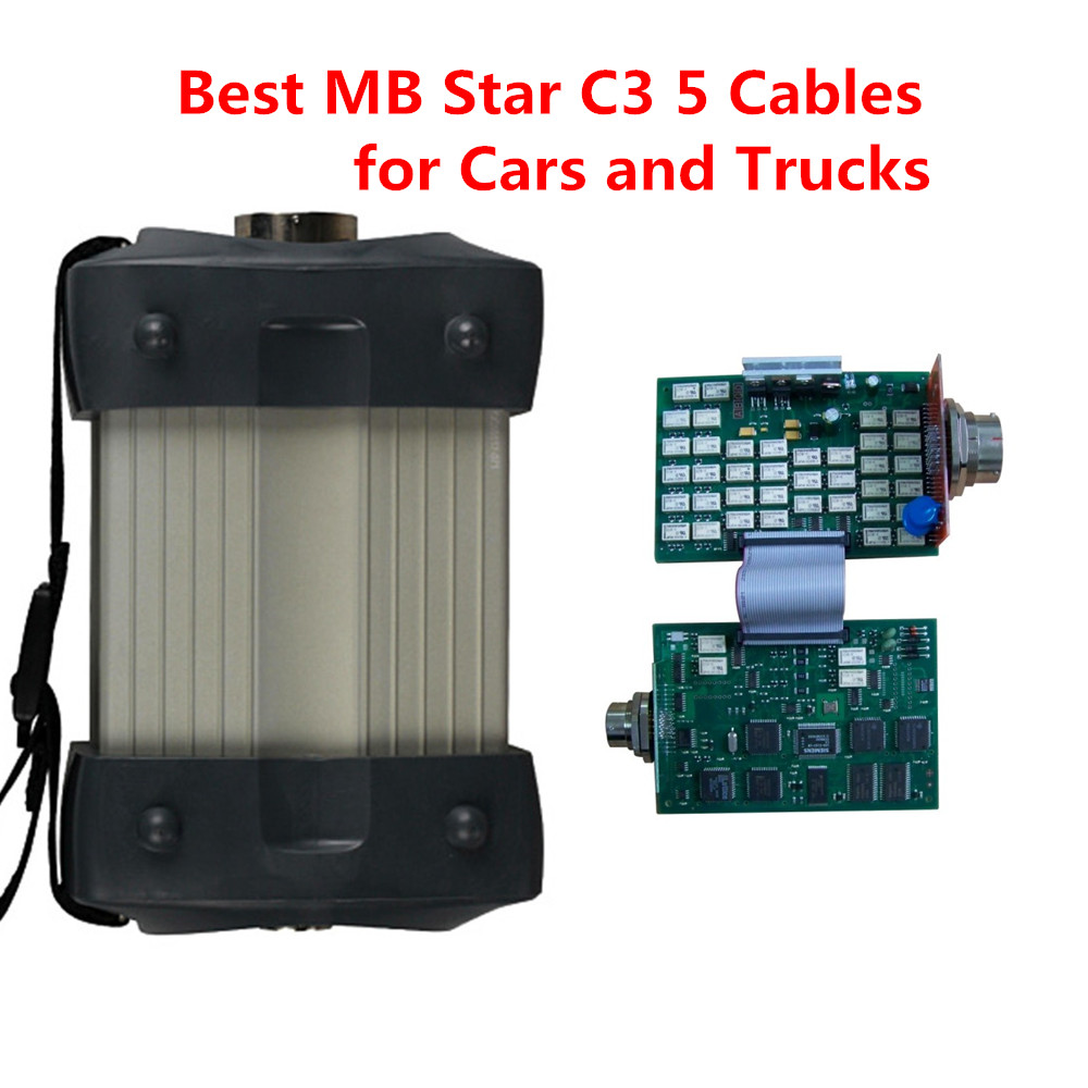 Best mb star c3 multiplexer 5 cables diagnostic tool for cars and trucks free shipping