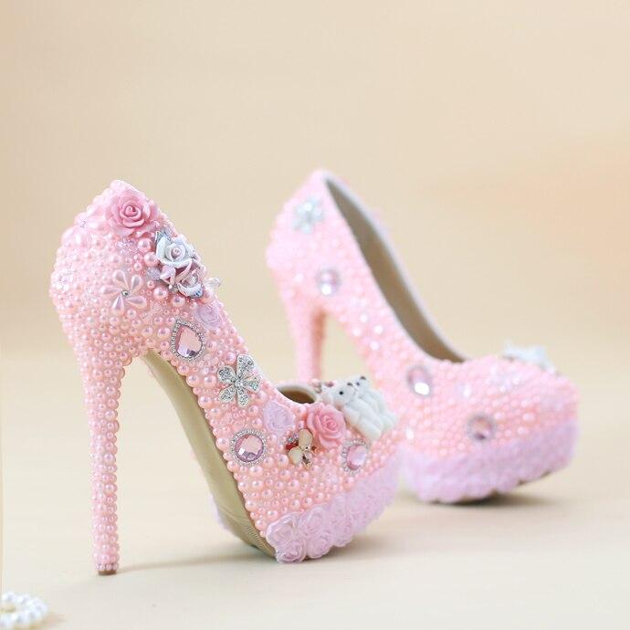 pink heels wedding heels zone
