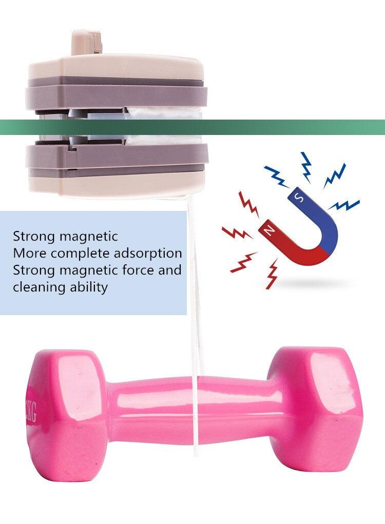 Домашний стеклоочиститель, щетка для чистки стекла, инструмент 3 35 мм, регулируемая двухсторонняя Магнитная щетка для мытья окон, щетка для мытья стекол, чистка - 6