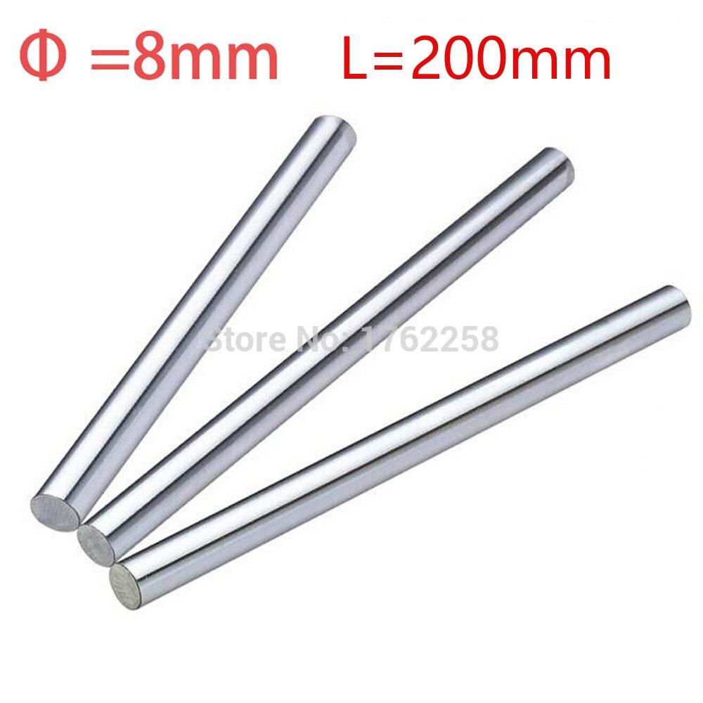 1pc 8mm 8x200 linear shaft 3d printer 8mm x 200mm Cylinder Liner Rail Linear Shaft axis cnc parts