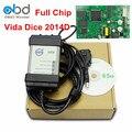 Cheio De Chip Para Volvo Vida Dice Ferramenta de Diagnóstico Do Carro Software 2014D OBD2 Scanner Para A Volvo Com Atualização de Firmware Self Test função