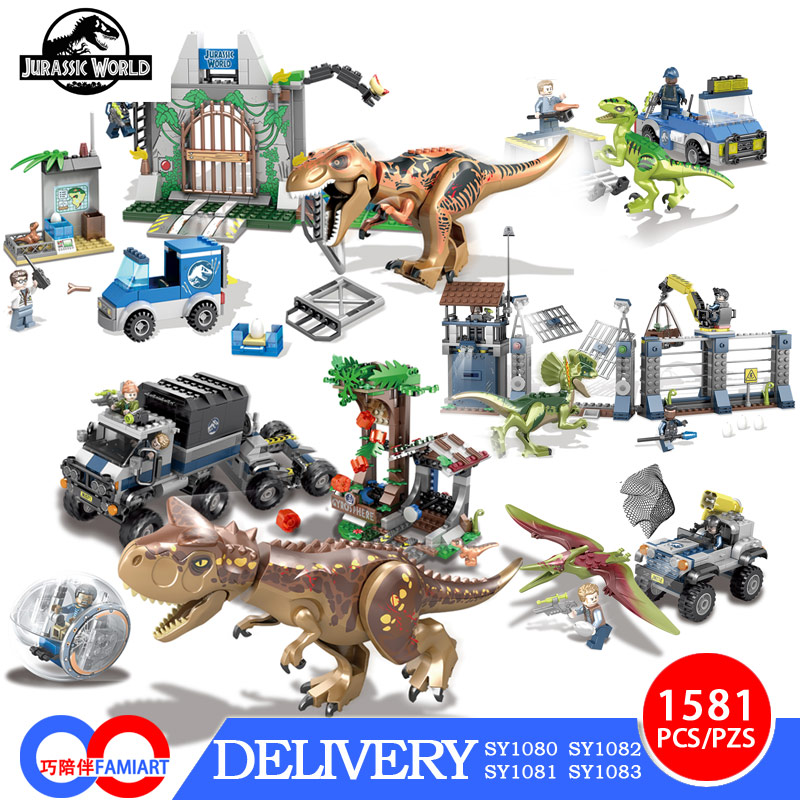 SY legoing Jurassic World Figures Raptor Pterosauria Triceratop Indomirus T-Rex Building Block Toy compatible with lepin single dinosaurs tyrannosaurus rex triceratop pterosauria velocirapto movie mini building blocks toys legoings jurassic world