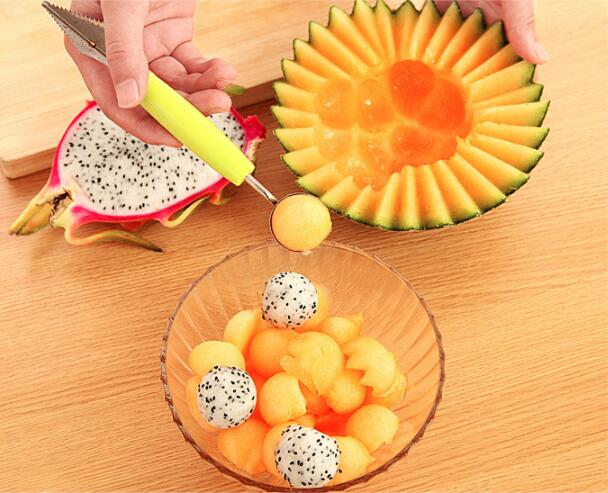 Spoon Baller Scoop Cold-Dishes-Tool Watermelon Fruit-Carving-Knife Assorted Creative