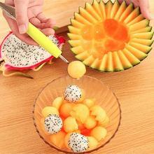 1 шт., креативный нож для резьбы по фруктам, арбуз, Шариковая ложка для мороженого, ложка, Шариковая ложка, Diy инструмент для ассорти из холодных блюд, LF 104