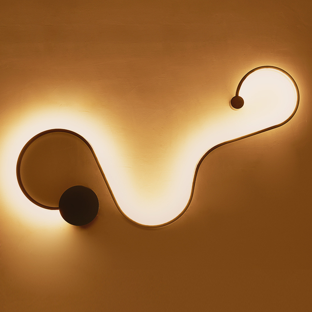 Scandinavo moderno e minimalista creativo lampada da - Applique led per camera da letto ...