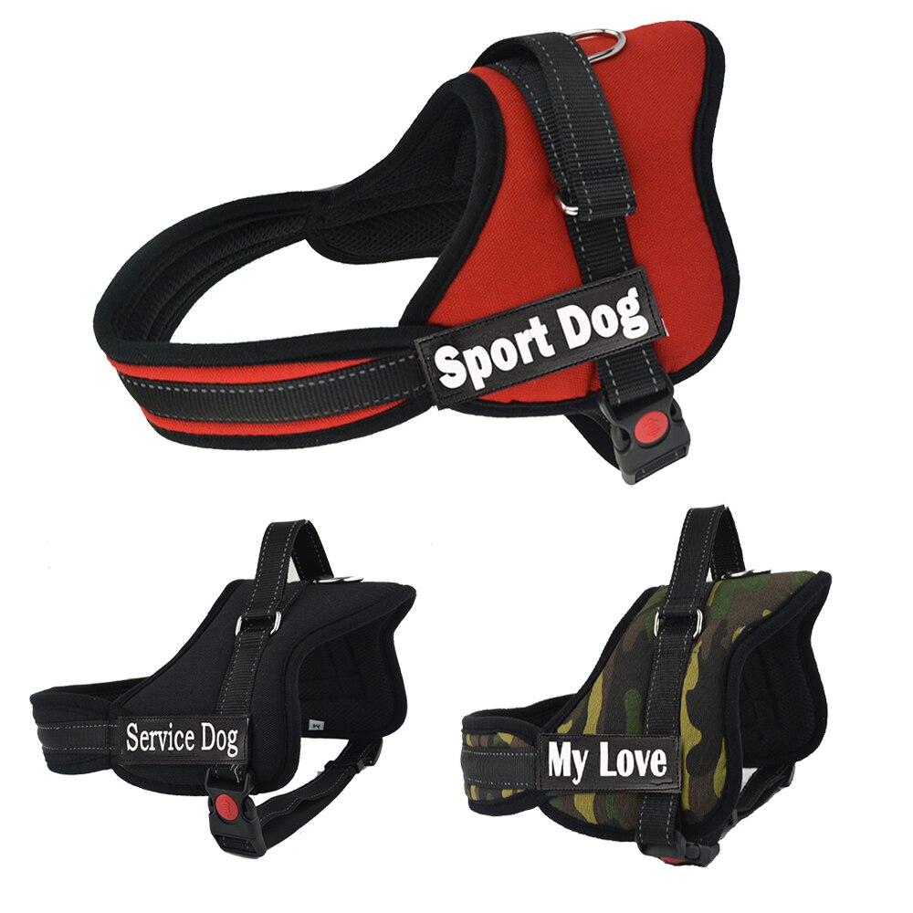 Hot Koop Grote Hond Naam Harnas Kleine Medium Grote Hond Harness Gepersonaliseerde Harnas voor Honden