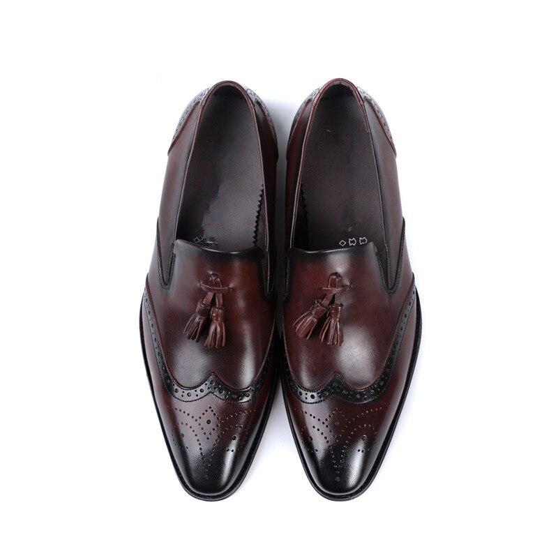 cc7ee3a6ec Mocasines Zapatos Hombre Oficina Hombres Para Oxford Marca De Calzado Borla  Black Italiano Vestido coffee Cuero Lujo Moda Genuino Formal a4w4dqF