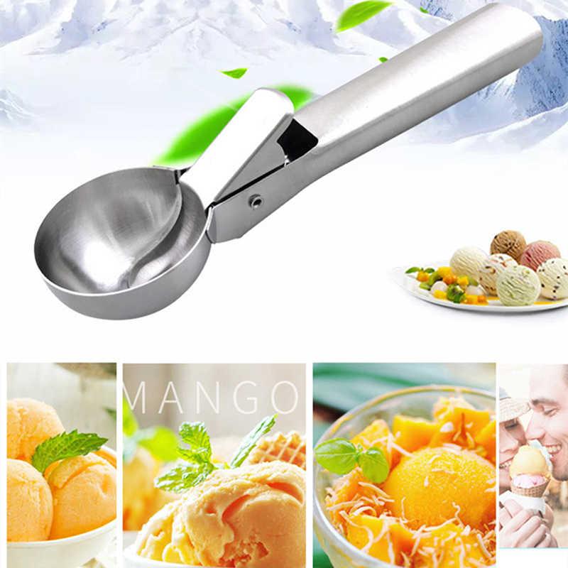 5 CM de qualité alimentaire en acier inoxydable cuillère à ressort poignée cuisine cuisine crème glacée purée pomme de terre Scoop accessoires