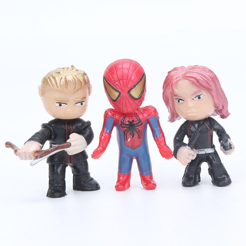 12stk Q-versjonen Avengers Figur Set Marvel Leker 4-5cm Iron Man Thor - Toy figurer - Bilde 3