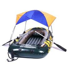 Укрытие тент раза солнце лодки палатки солнца надувной козырек резиновые человек