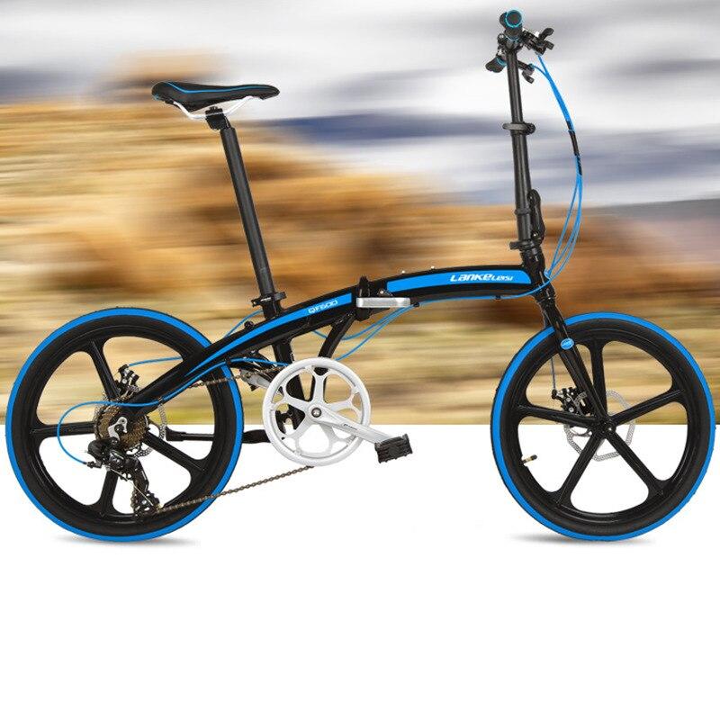 Vélo de route à 7 vitesses, vélo pliant de 20 pouces, vélo de ville, cadre en alliage d'aluminium, BMX, freins à disque doubles