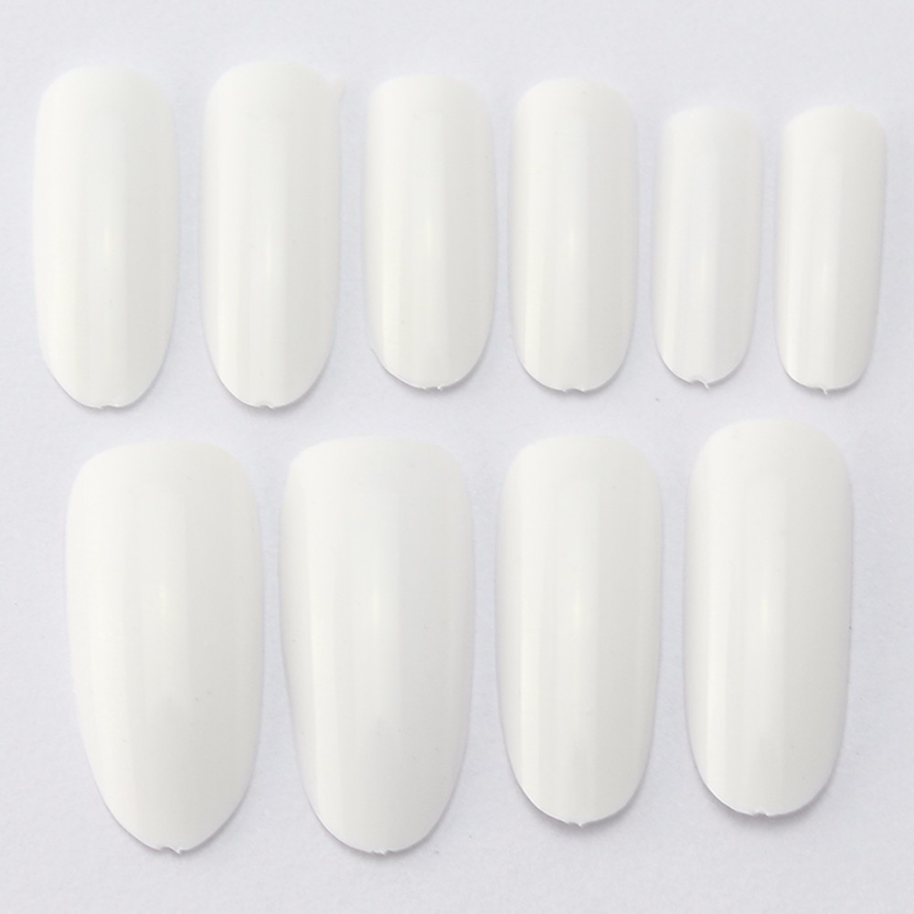 500 packs/lot 500 Oval Nails Tips Round Fullwell White Color Tips ...